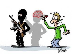 charlie hebdo terroriste sans cerveau