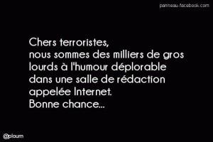 panneau Facebook Charlie hebdo