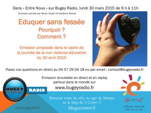 15.03.30 entre nous emission radio éduquer sans fessee