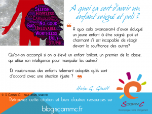 15.06.29 citation Haim Ginott enfant eduque poli soigne