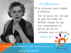 être jugé : citation rebecca west paillasson féminisme