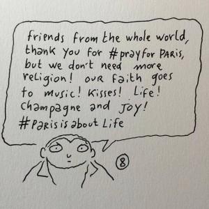 paris attack foi joie vie attentats de Paris dessin de Johan Sfar