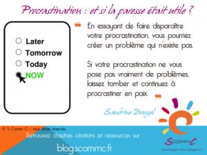 de l'utilité de la procrastination