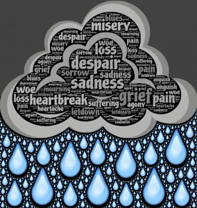 tristesse nuage pluie