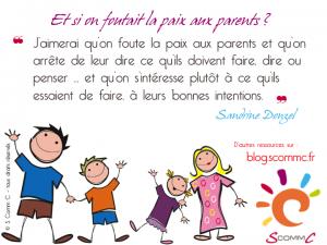 16.06.07 citation sandrine donzel la mere suffisamment bonne et si on foutait la paix aux parents