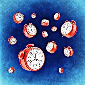 gérer le stress du matin avec des enfants : pendules