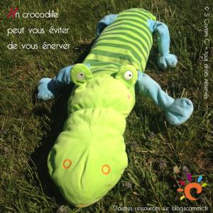 crocodile en peluche qui nous sert d'astuce pour nous énerver moins