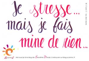 stress de la rentrée : je stresse mais je fais mine de rien