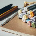 comment faire un bullet journal : carnet et feutres