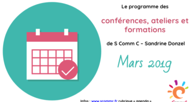 Le programme des conférences et ateliers – mars 2019