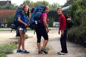 Aventure en famille : nous partons, photo au bout de notre chemin