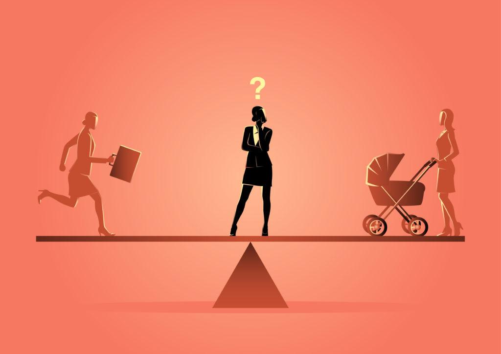 changer notre rapport au temps : femme réfléchissant  l'équilibre entre vie familiale et vie professionnelle