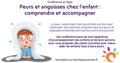 Conférence en ligne «peurs et angoisses chez l'enfant»